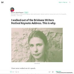 I walked out of the Brisbane Writers Festival Keynote Address. This is why. – Medium