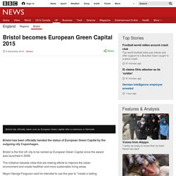 Bristol becomes European Green Capital 2015
