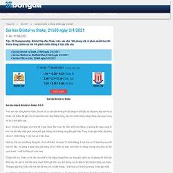 Soi kèo Bristol vs Stoke, 21h00 ngày 2/4/2021