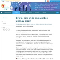 Bristol city-wide sustainable energy study