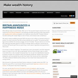 Britain announces a happiness index « Make Wealth History