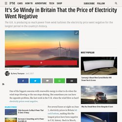 It's So Windy in Britain That the Price of Electricity Went Negative