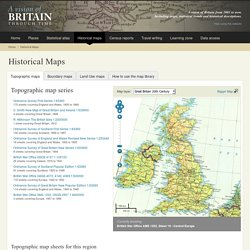 Old maps of Britain and Europe from A Vision of Britain Through Time