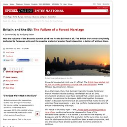 Britain and the EU: The Failure of a Forced Marriage - SPIEGEL ONLINE - News - International