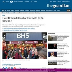 How Britain fell out of love with BHS – timeline