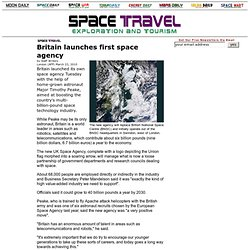 Britain launches first space agency