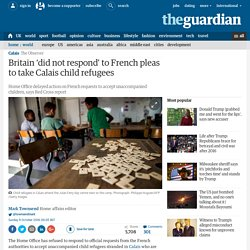 Britain 'did not respond' to French pleas to take Calais child refugees