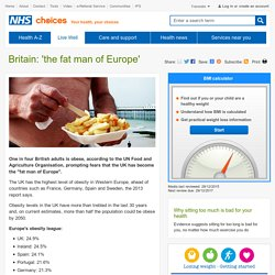 Britain: 'the fat man of Europe'