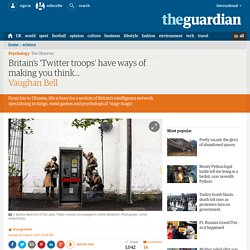 Britain's 'Twitter troops' have ways of making you think…