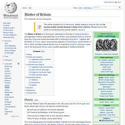 Matter of Britain