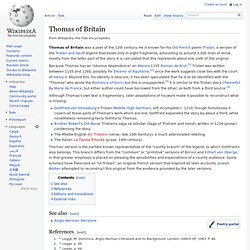 Thomas of Britain
