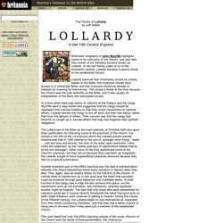 Britannia History: Lollardy