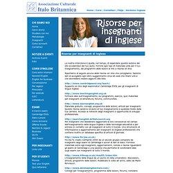 Italo Britannica Bologna: Siti web consigliati per insegnanti di Inglese