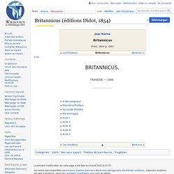 Britannicus (éditions Didot, 1854)