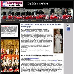 La monarchie britannique - symbole incontournable de la nation