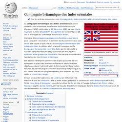 Compagnie britannique des Indes orientales