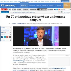 International : Un JT britannique confié à un homme défiguré