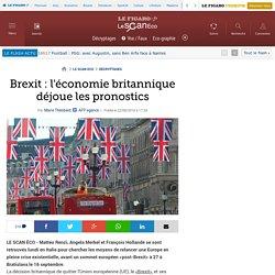 Brexit : l'économie britannique déjoue les pronostics