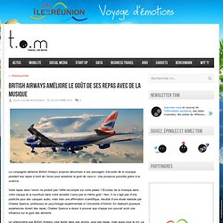 British Airways améliore le goût de ses repas avec de la musique