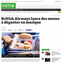 British Airways lance des menus à déguster en musique