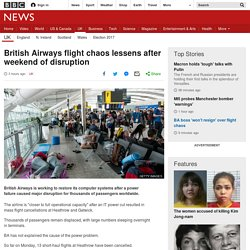 British Airways flight chaos lessens after weekend of disruption