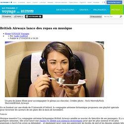 British Airways lance des repas en musique