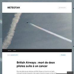 British Airways : mort de deux pilotes suite à un cancer