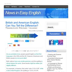 British and American English: Can You Tell the Difference?