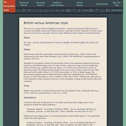British versus American style