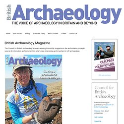 'British Archaeology' home page