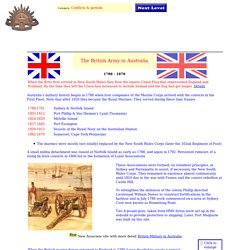 The British Army in Australia 1788 to 1870