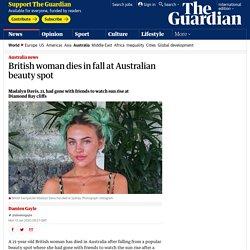 British woman dies in fall at Australian beauty spot
