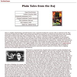British Empire: Library: Non-Fiction: Plain Tales from the Raj