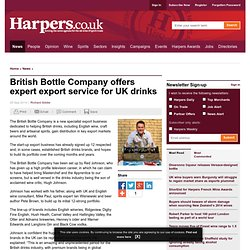 British Bottle Company offers expert export service for UK drinks