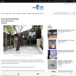 Great British Buildings: Pear Tree House, London