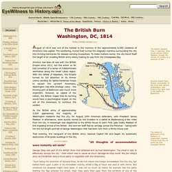 The British Burn Washington, 1814