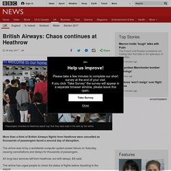 British Airways: Chaos continues at Heathrow