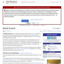 British Council (Royaume-Uni) (article)