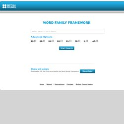 British Council - Word Family Framework