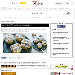 "La ""so british"" cuisine selon Rose Bakery"