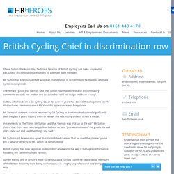 British Cycling Chief in discrimination row