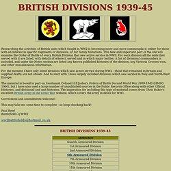 British Divisions WW2