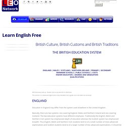 The British Education System - British Culture, Customs and Traditions