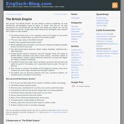 The British Empire - Englisch-Blog.com