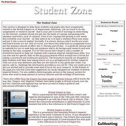 British Empire: Student Zone