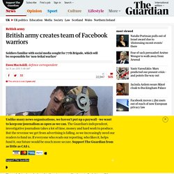 British army creates team of Facebook warriors