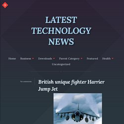 British unique fighter Harrier Jump Jet