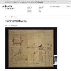 Image gallery: The Greenfield Papyrus
