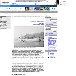 The British Government and the American Polaris Base in the Clyde : JMR