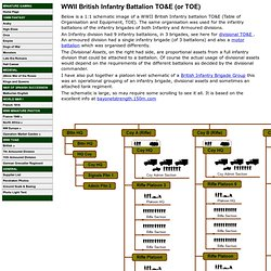 British Infantry Battalion TO&E